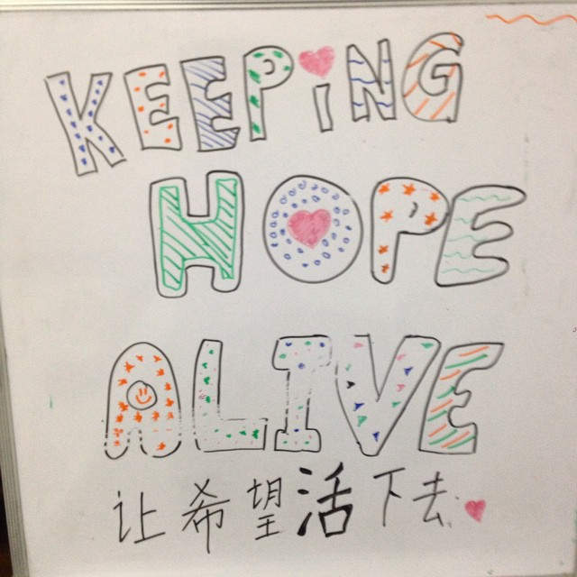 Artwork by our 3rd speakers team Keeping Hope Alive! #SGSoup