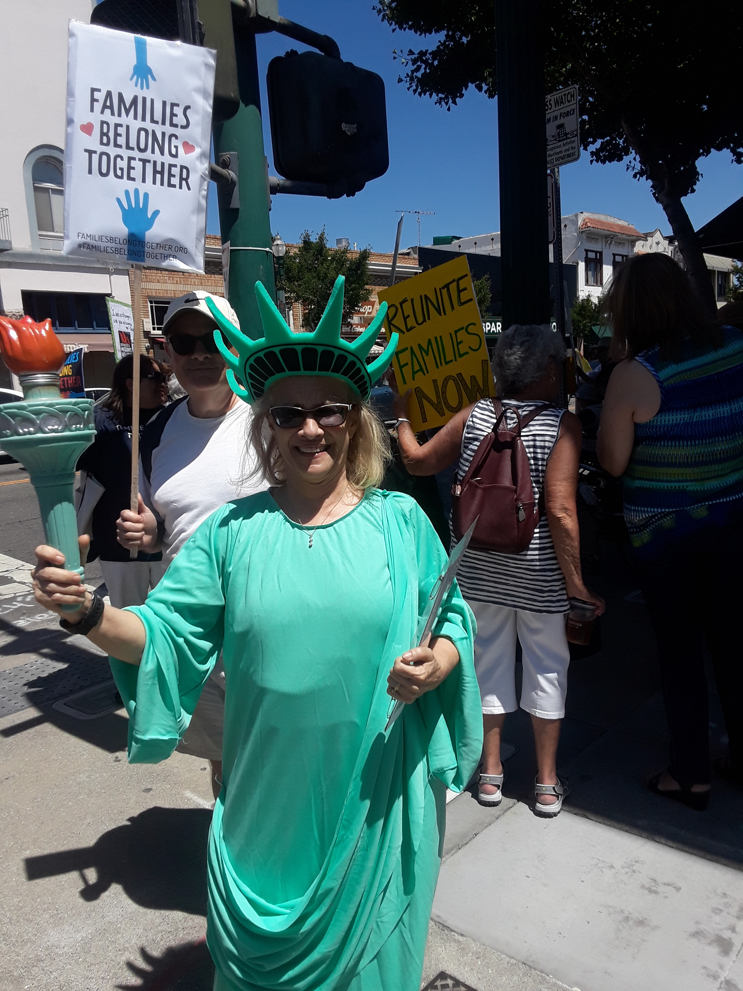 Lady Liberty herself attended the event to show support for separated families