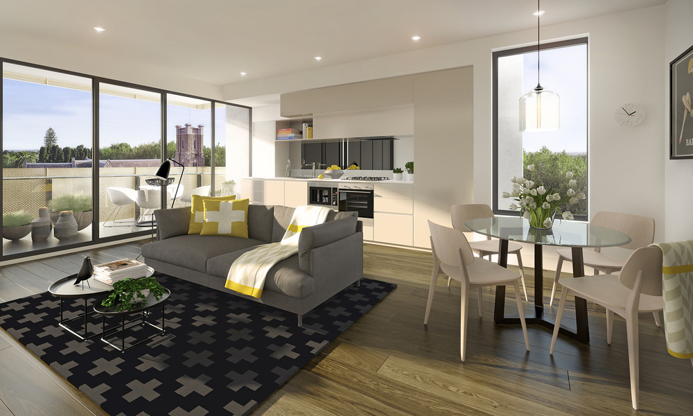 GASCOIGNE :: MALVERN EAST  Featuring a unique golden-mesh façade, Gascoigne encompasses the rich heritage of the Malvern East site across 66 architecturally designed apartments.  Boasting treetop views and contemporary and sleek interiors, Gascoigne apartments offer a new lifestyle benchmark for apartment living.   Gascoigne is a collaborative effort between Hub Property Group and ARM Architecture.