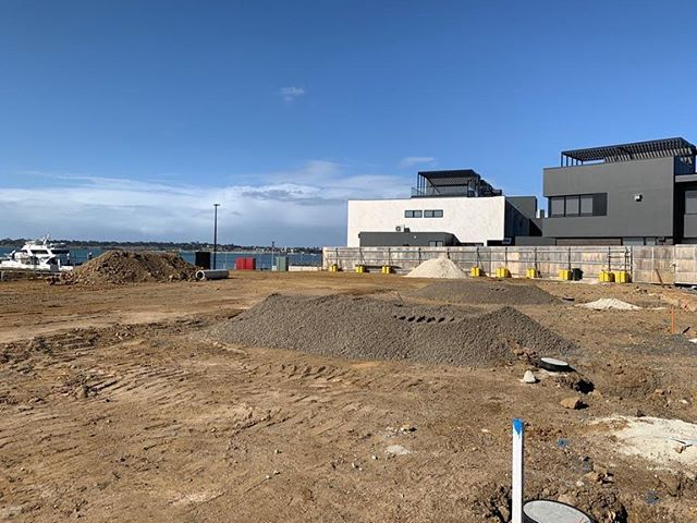 BALMORAL QUAY | fantastic morning onsite with civil works close to completion. #hubpropertygroup #balmoralquay #projectmanagement #geelong