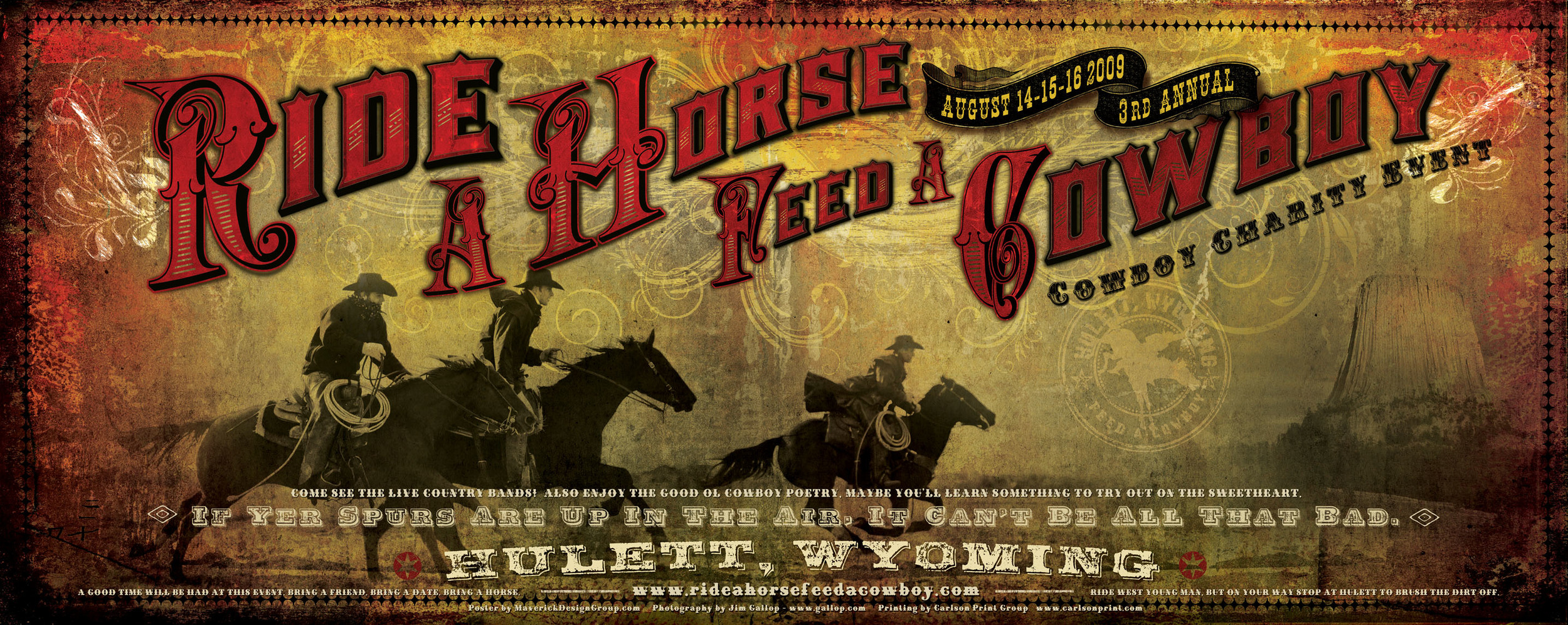 FLAT2009 Ride A Horse Feed A Cowboy Poster.jpg