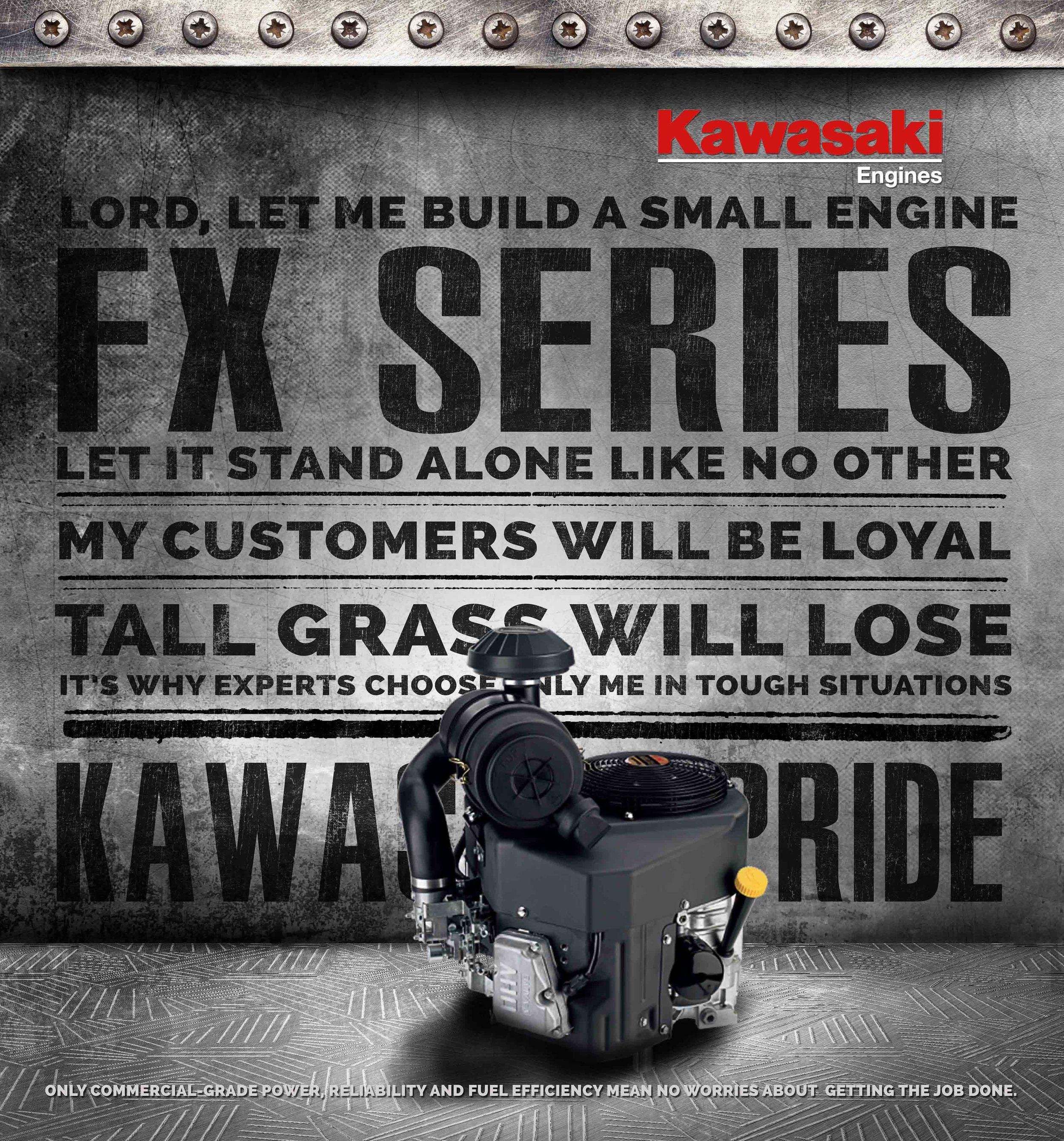 Kawasaki Engines Poster