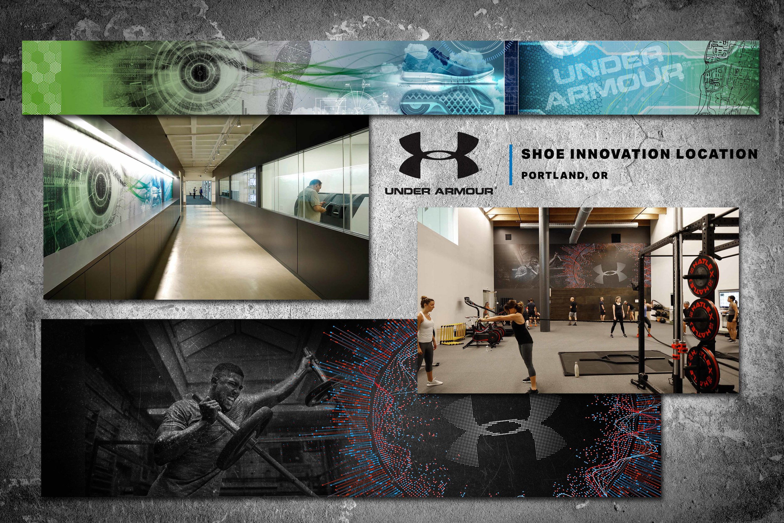 Under Armour Shoe Innovation Wall Graphics
