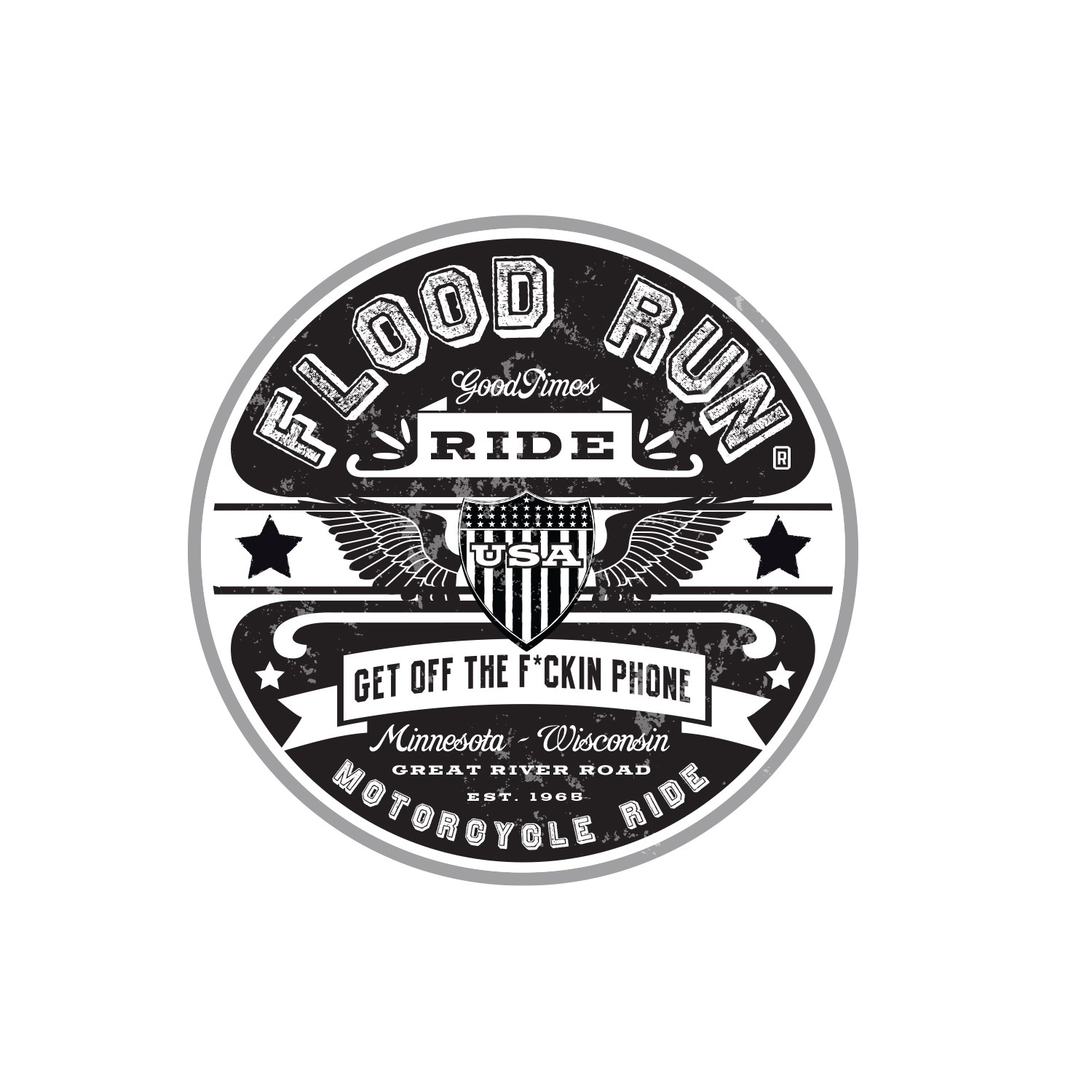 Flood Run Charity Motorcycle Ride Logo