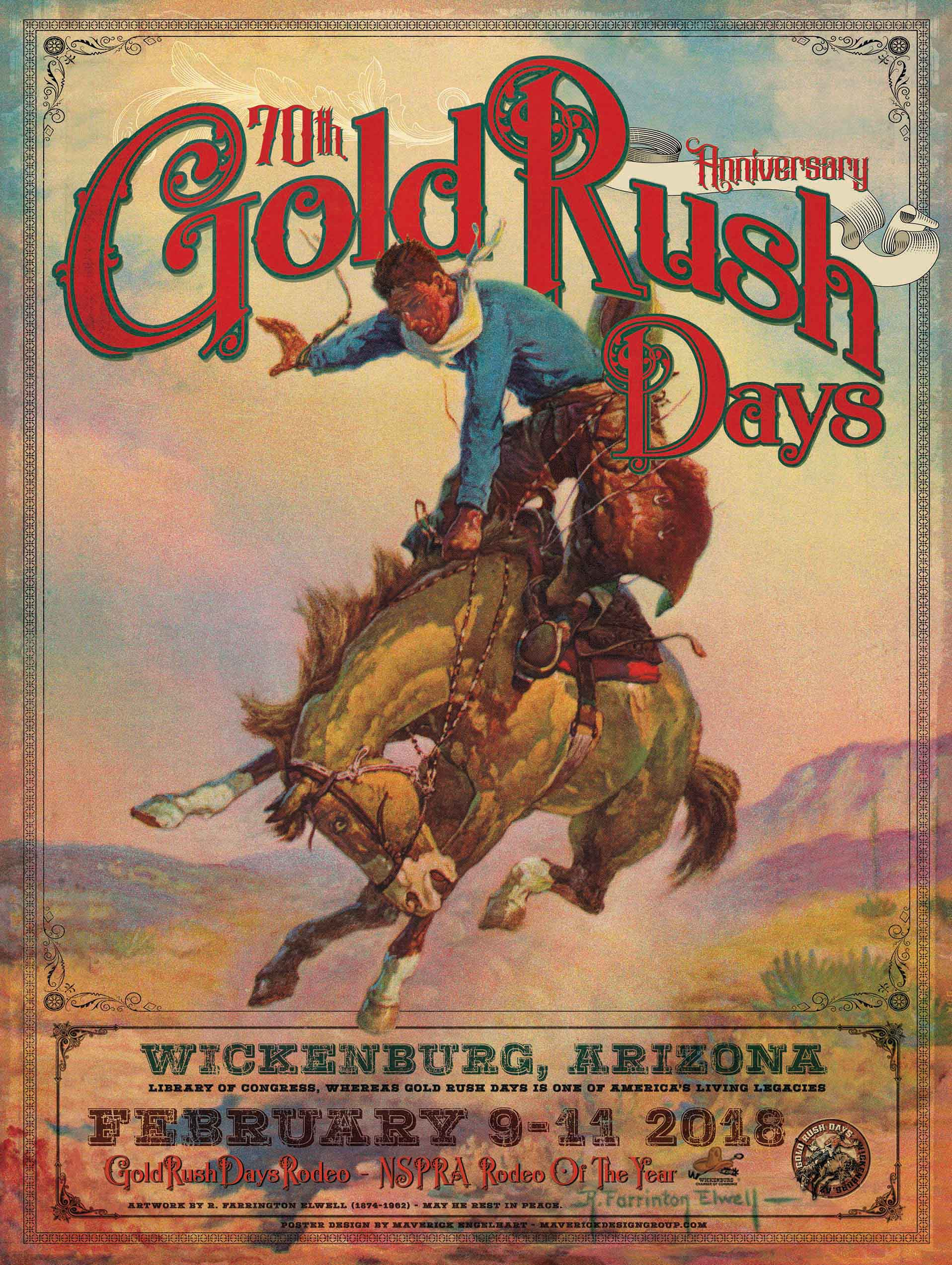70th Anniversary Gold Rush Days Poster for Wickenburg, Arizona