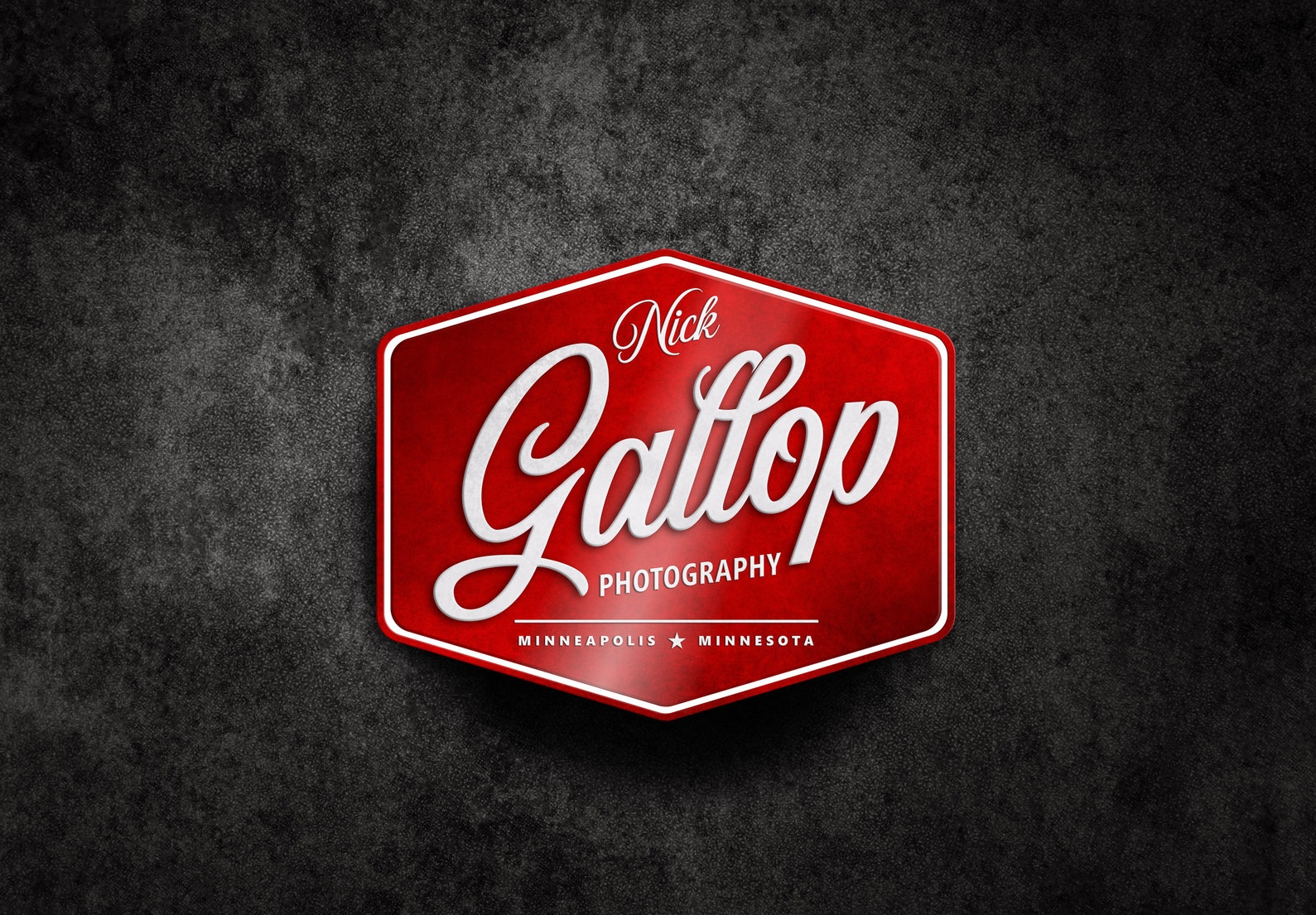 Logo brand design for Nick Gallop Photography in Minneapolis, Minnesota