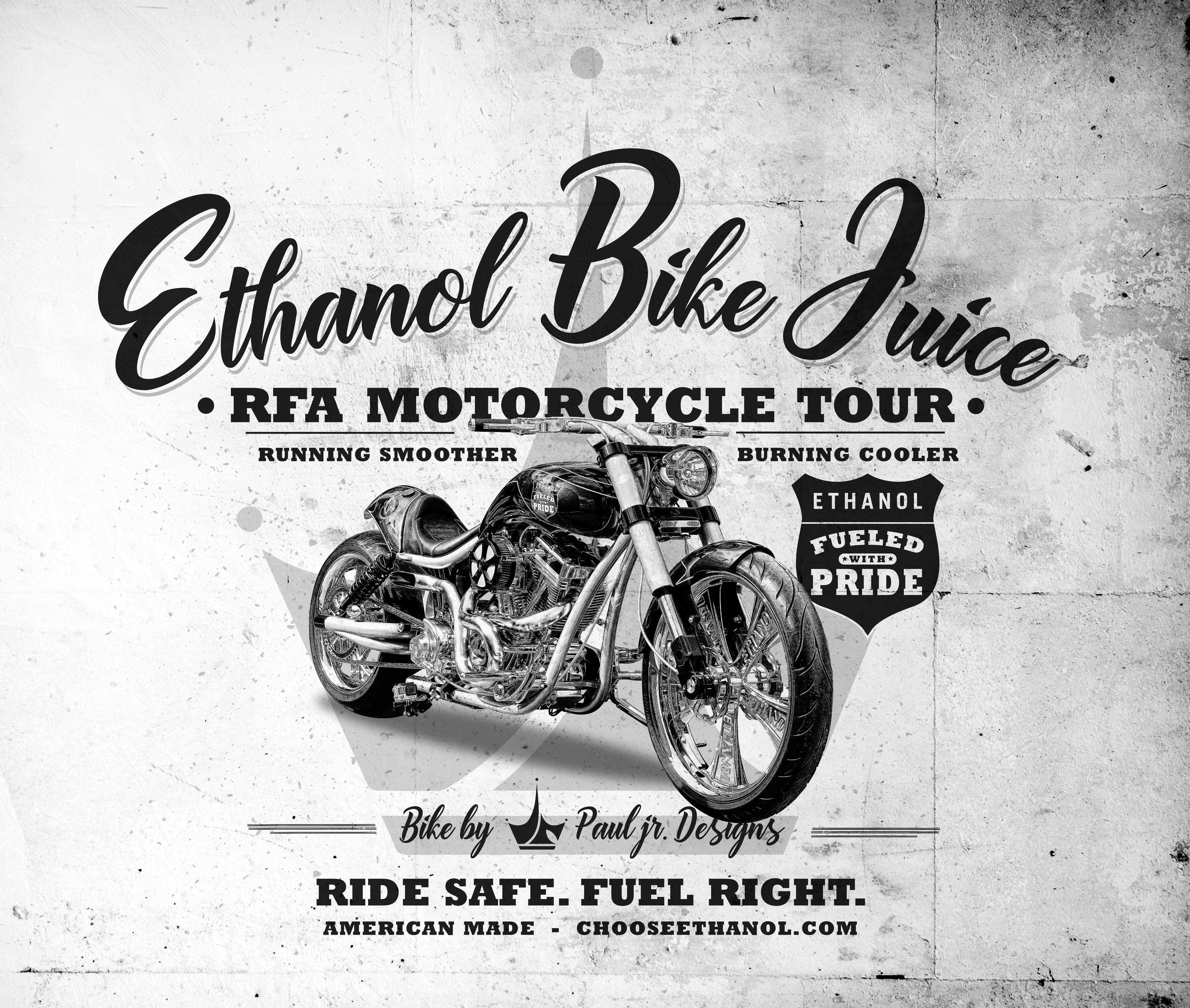 Design for Ethanol Fueled With Pride RFA Motorcycle Tour