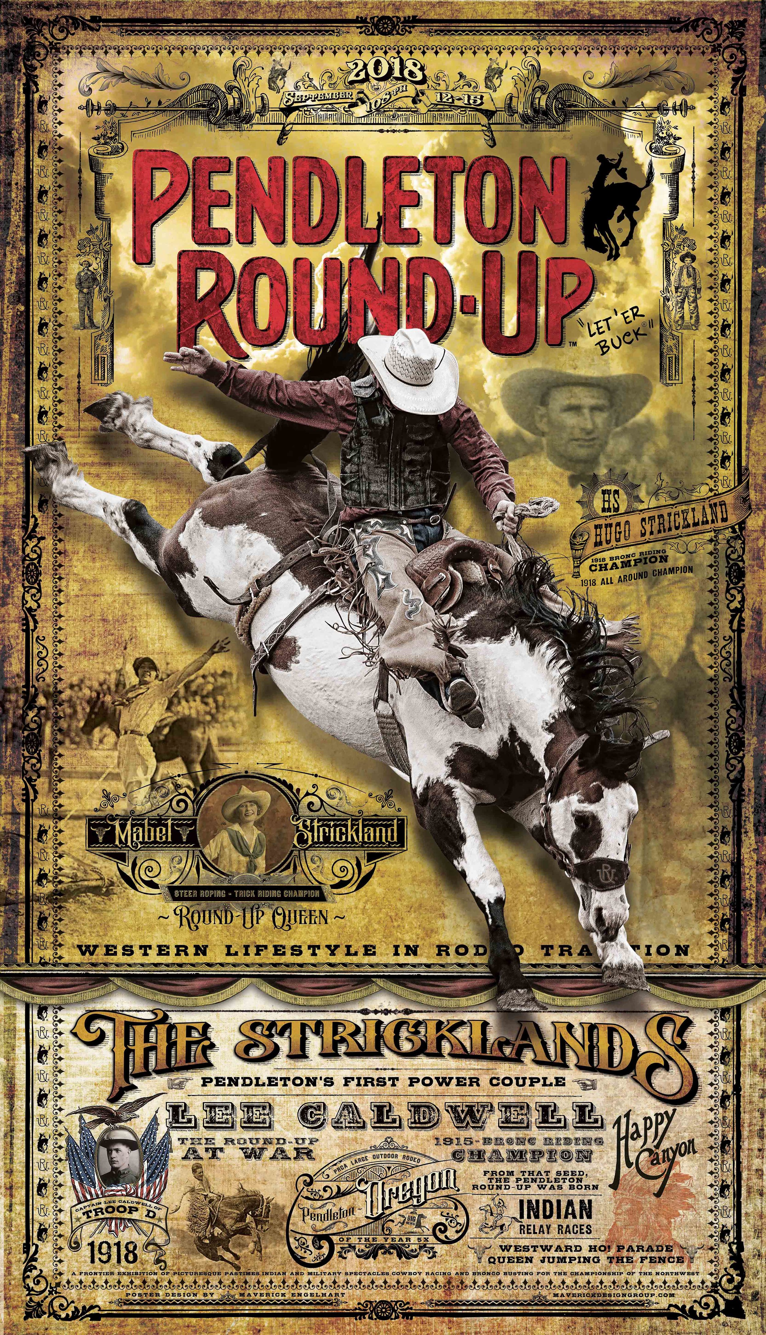 2018 Pendleton Round-Up Rodeo Poster