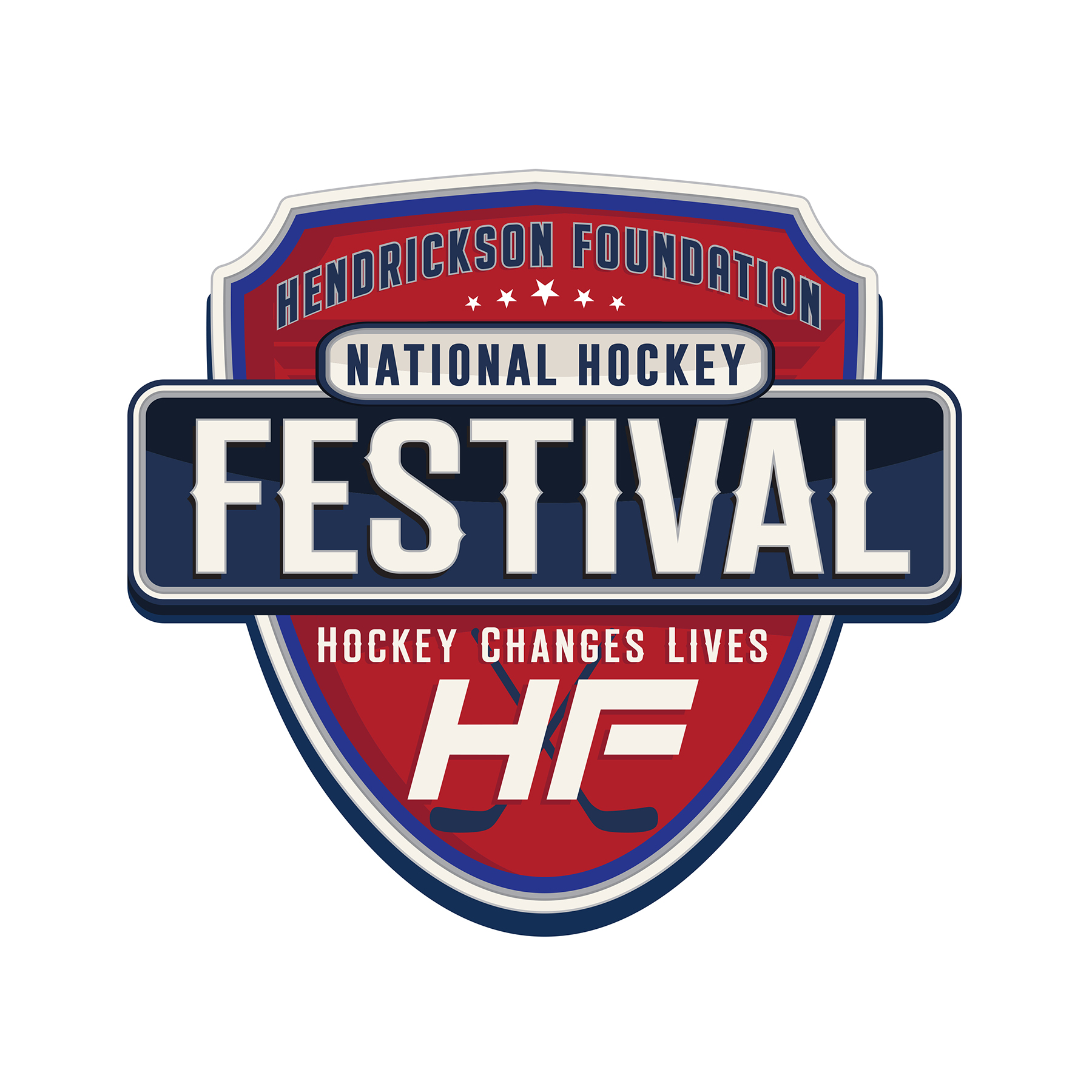 Hendrickson Foundation National Hockey Festival Logo Design