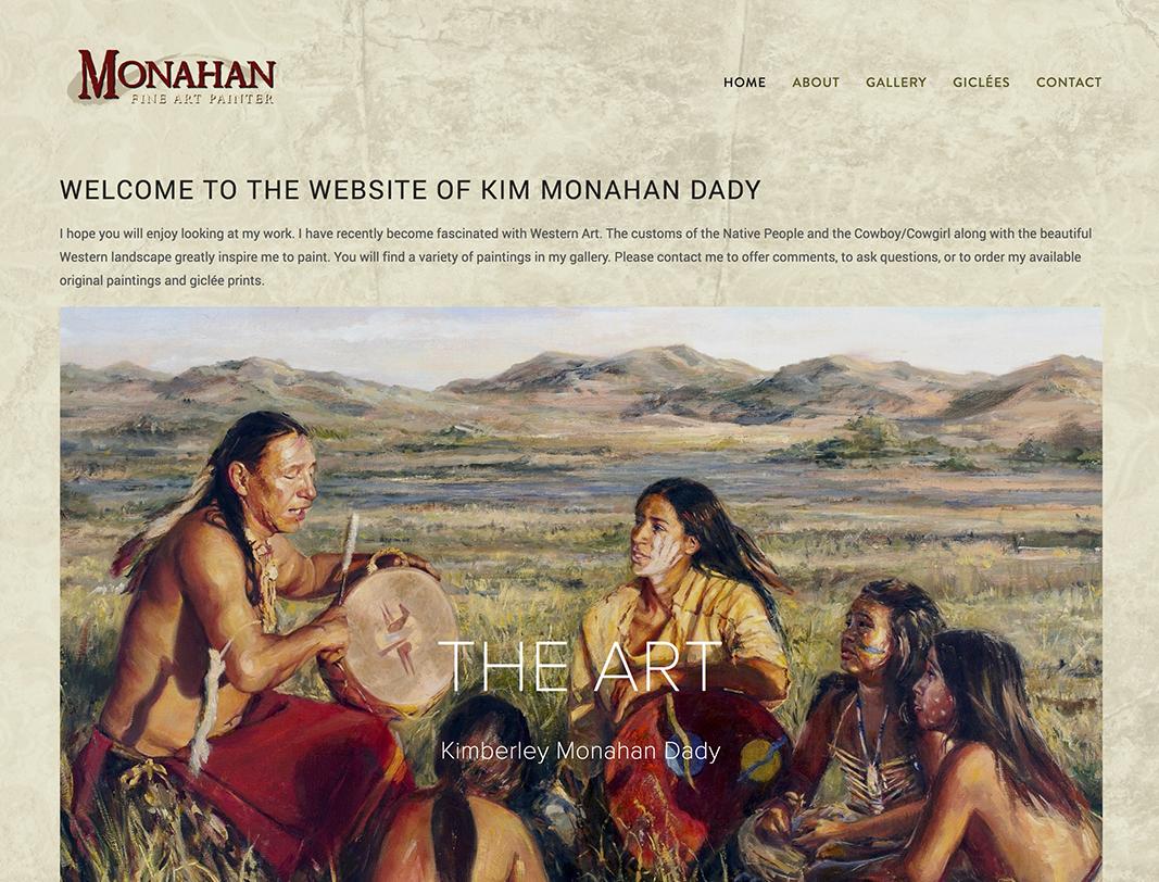 Monahan Fine Art website