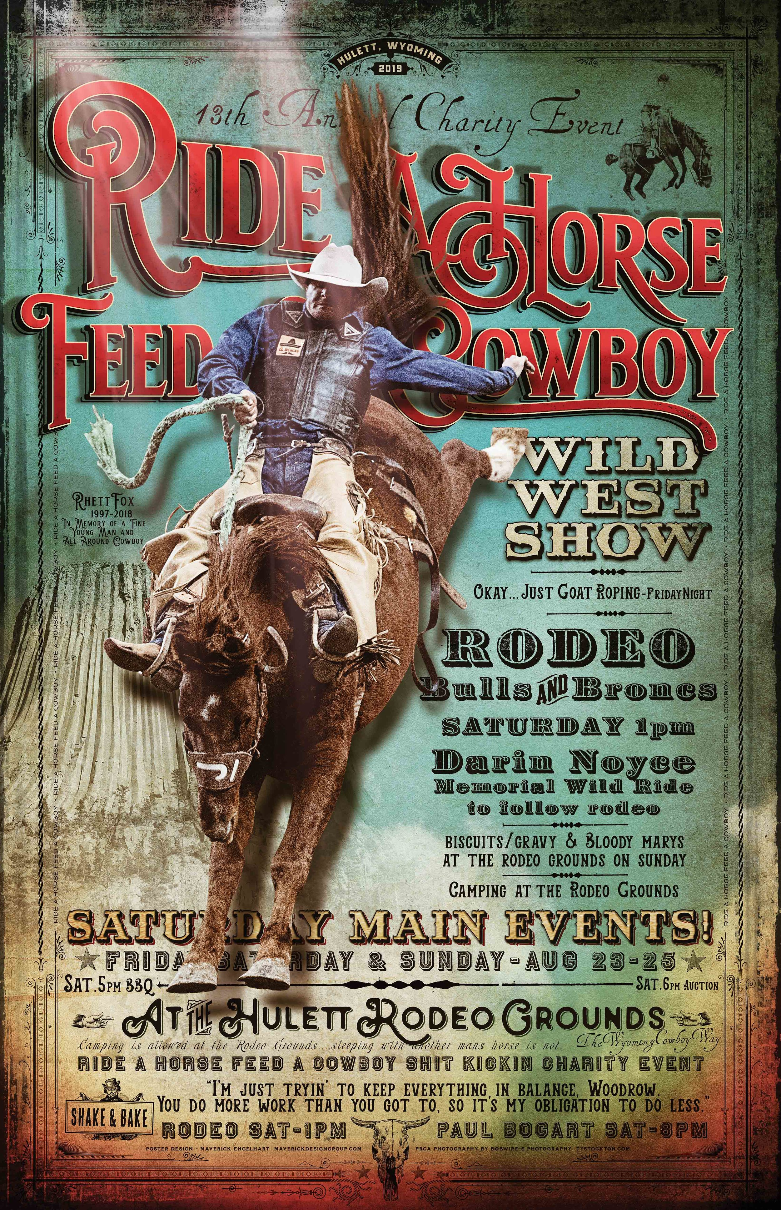 2019 Ride A Horse Feed A Cowboy Poster