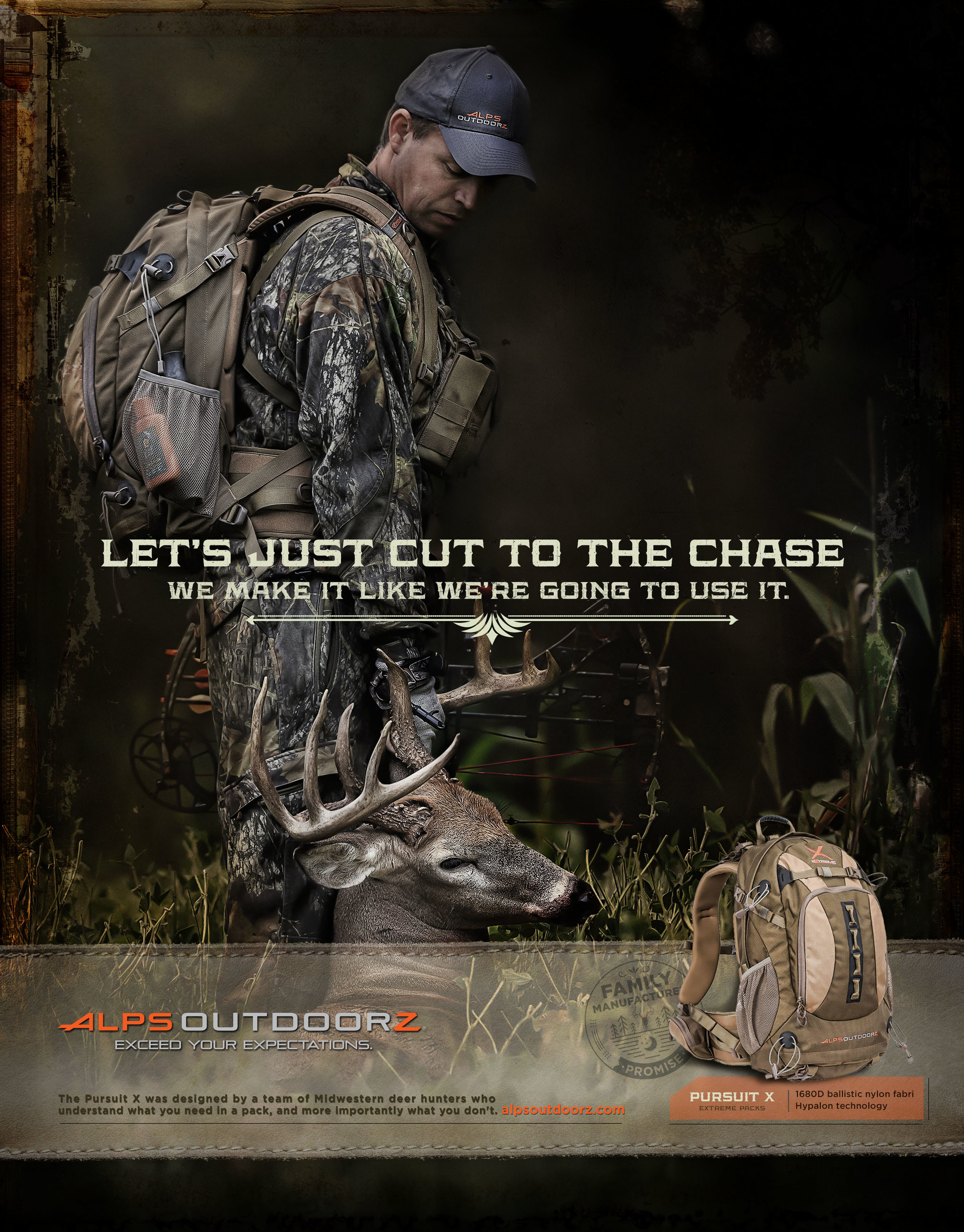 Print ad for ALPS Outdoors