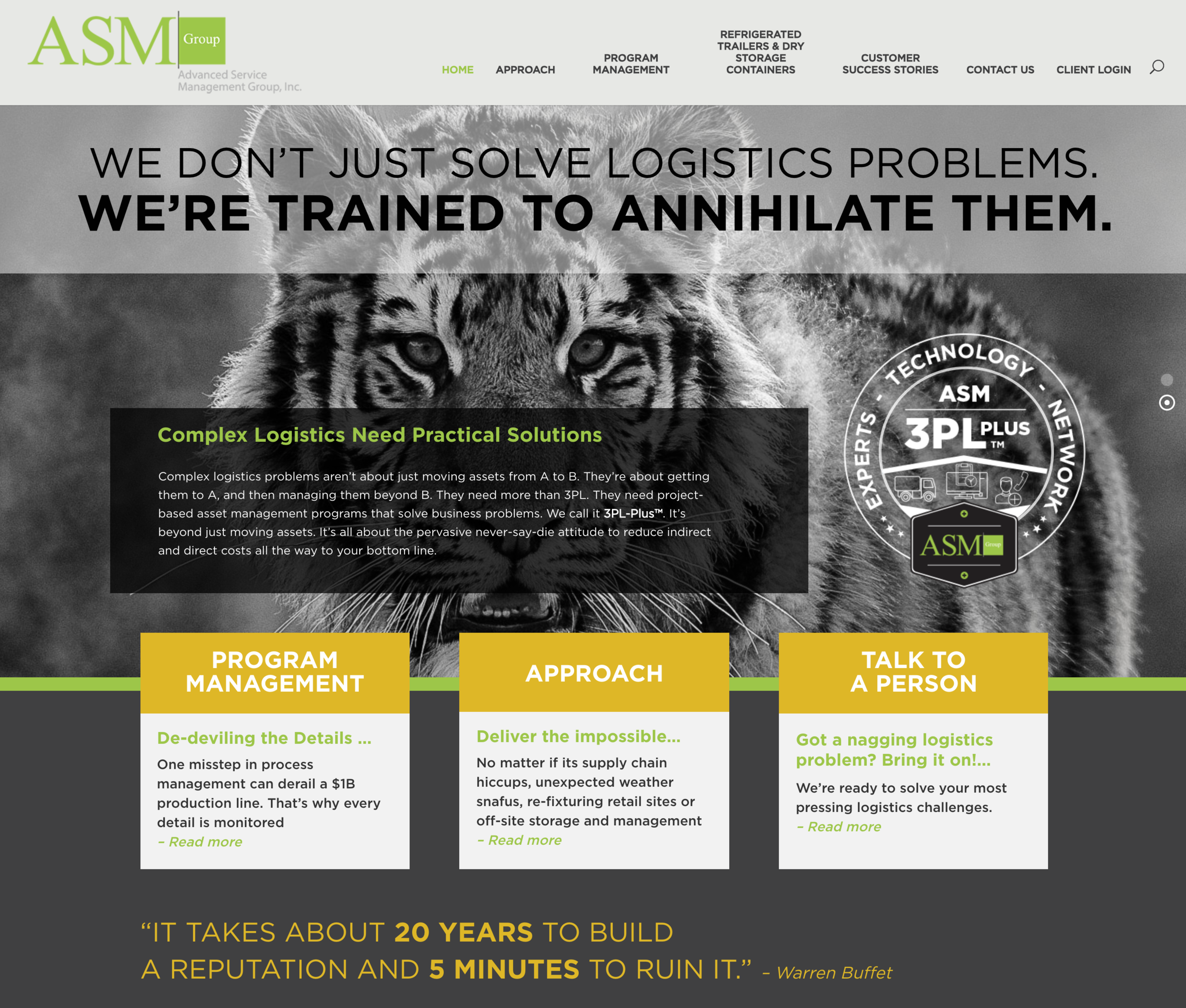 NEW website design for ASM Group in Minneapolis, MN