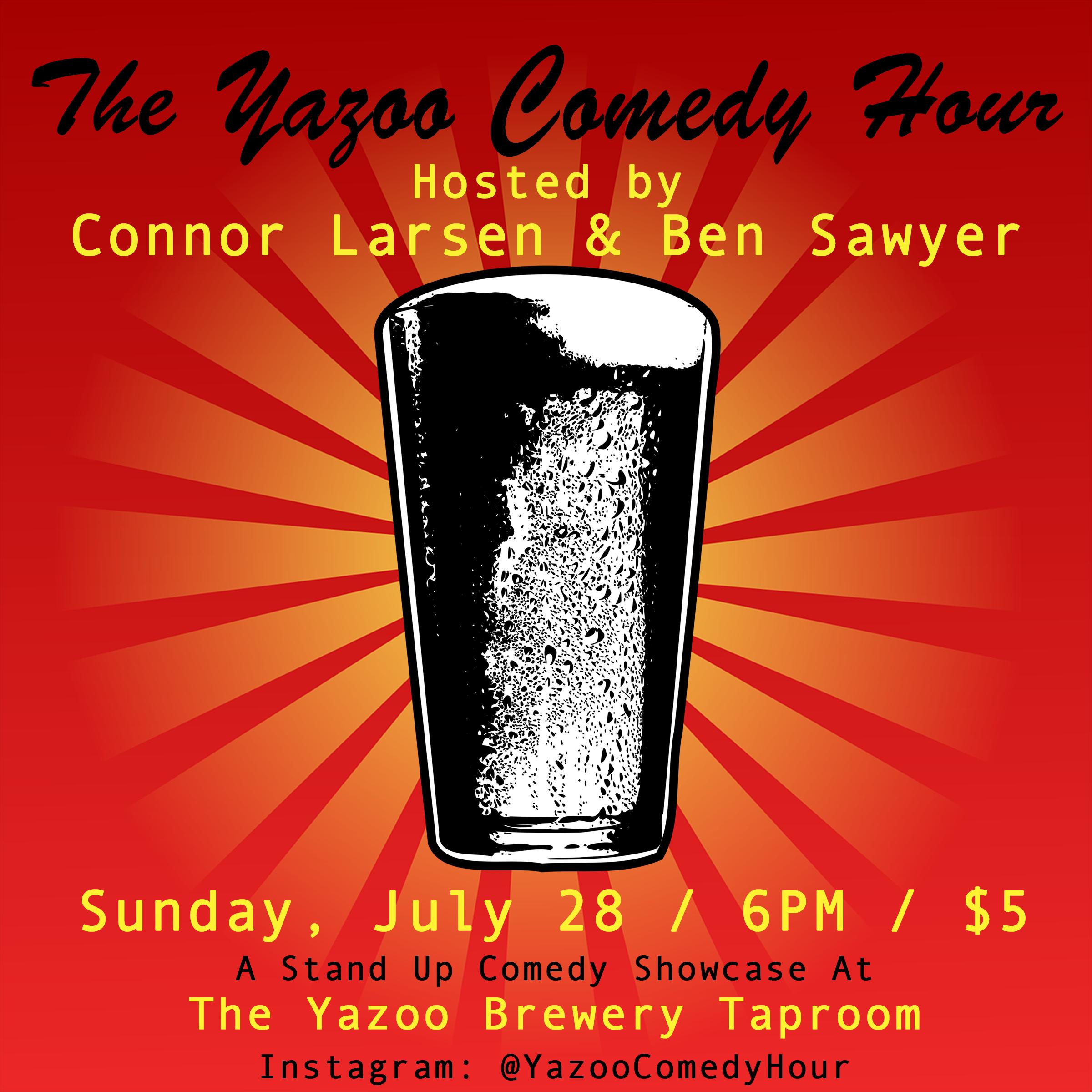 Yazoo Comedy Hour Flyer July 28 2019.png