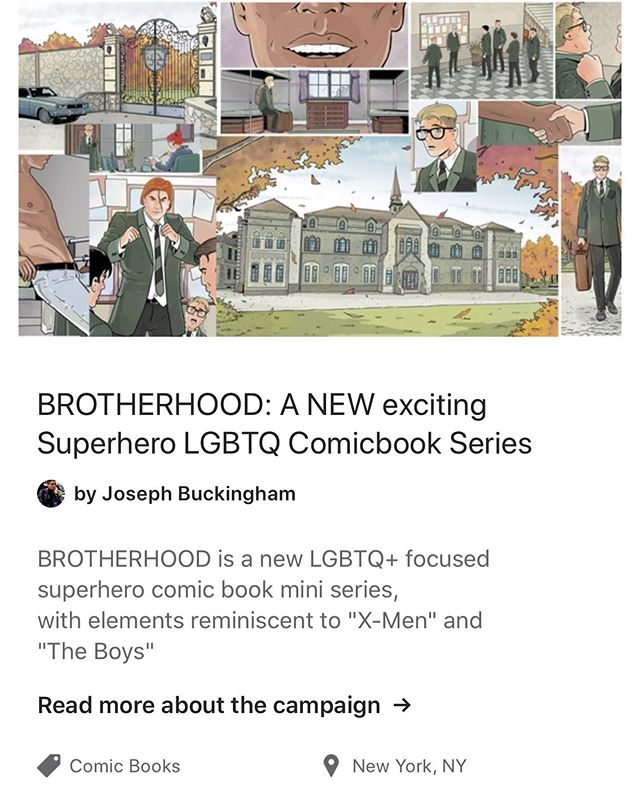 We Need Your Support! Help By Following the Link! #LGBTQ #QueerCreators #IndieComics #WebComics #Kickstarter #Comicbook