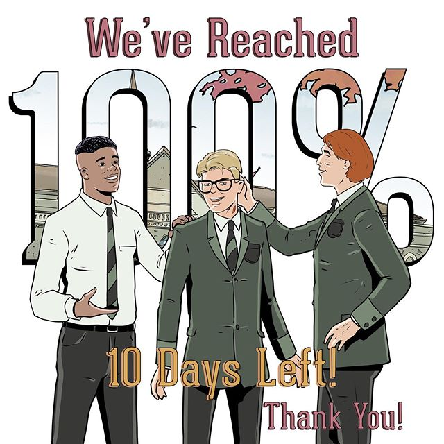 "I cannot believe I'm saying this but we did it! Thank you so much to all of you who have backed the project and believing in this story! Without you this would not have been possible! We still have 10 days left to back our project and get your hands on our comic series ""Brotherhood""! #ThankYou LINK IN BIO! #LGBTQ #NewComicDay #ComicBook #IndieComics #Kickstarter #GaySuperhero #GayComics #LGBTComics #QueerCreators"