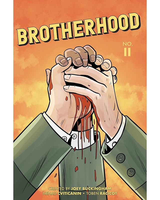 We've just wrapped on the work for Brotherhood's second Issue to begin printing! We are so excited to share this #Brotherhood Issue Two's cover! The cover art by the amazing #NenadCviticanin! Looking forward to get the story into all of our backers hands! Thank you all! #Webcomics #JoeyBuckingham #Comicbooks #LGBTComics #LGBTQ #QueerCreators #Comics #Artwork