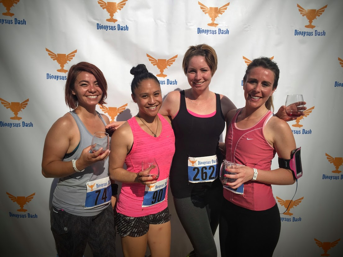 Lovely MissFIts in their first 5k Trail Race! Wine at the finish line!
