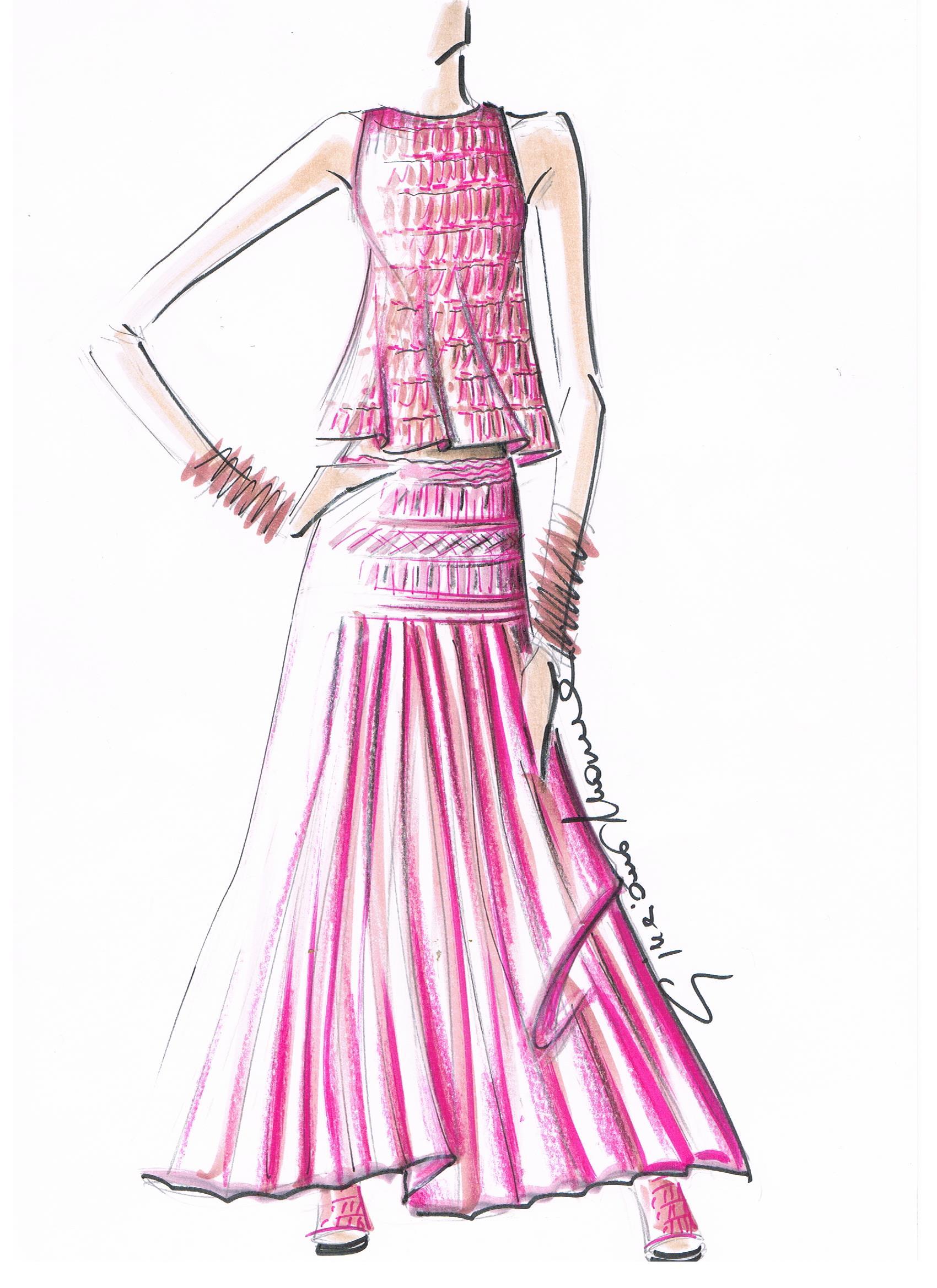 Giuliano&GiusyMarelli_Collezione-SS-2000_Romantic-Sporty-Life_Figurino_PinkPlissè_Aran_Transparent_Top_Skirt_Made-in-Italy_Maglieria_Maglia_Knit.jpg