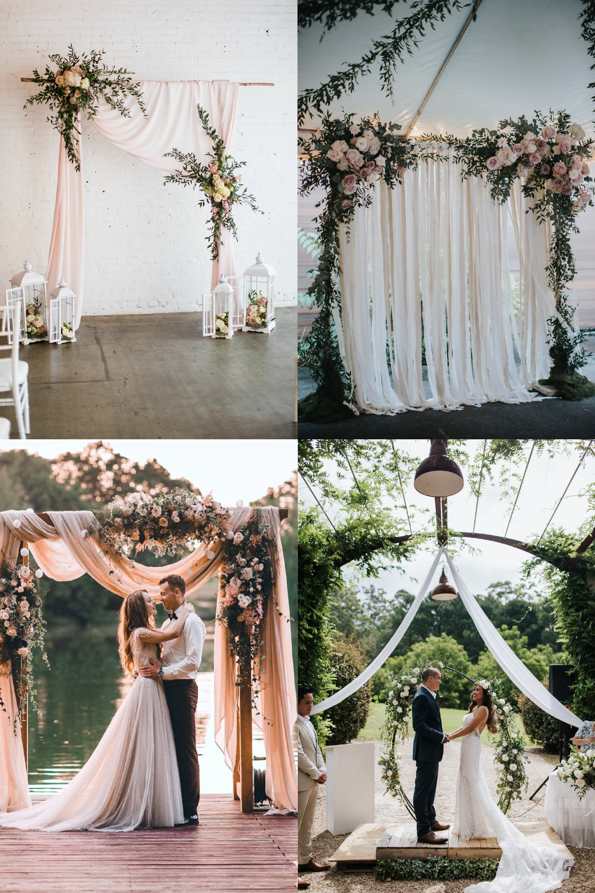 FROM CLOCKWISE, FROM TOP LEFT: Photo source  Pinterest , Photo by  Forever Photography , Floral Design by  Lime Tree Bower  and photo by  Samantha heather , Photo source by  Pinterest .