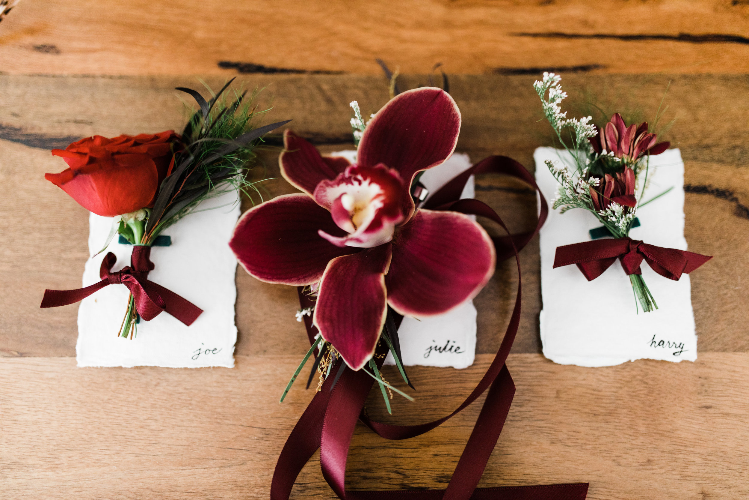 Family wrist corsages & buttonholes - Often, the parents of the couple add a buttonhole or corsage to their outfit on the day. It makes them feel that extra bit special, particularly in photos and if they are walking down an aisle.