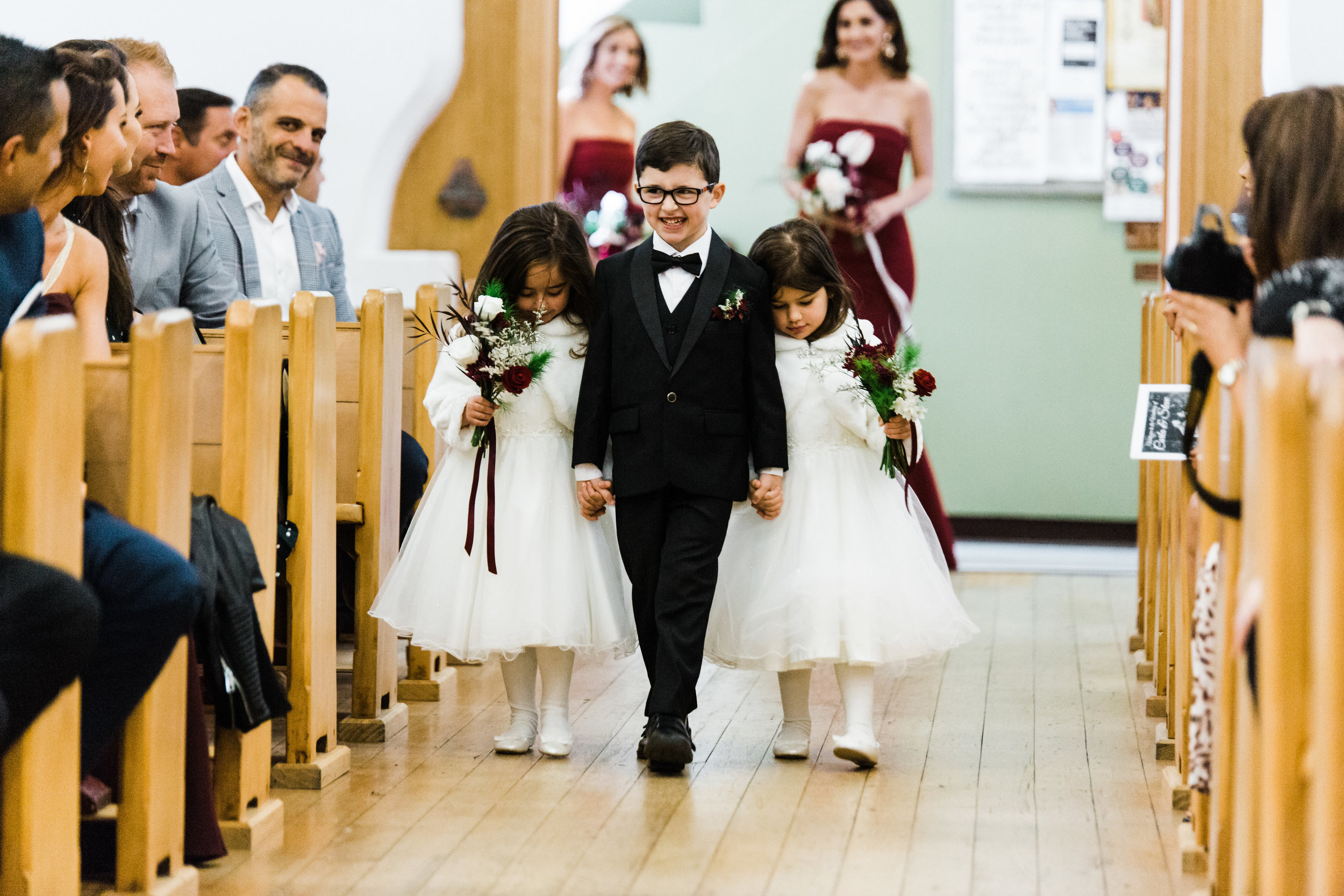 Flower girls & page boys - If you have any children that will form a part of your bridal party and walk down the aisle, it's super cute to add a touch of floral to their outfits too. Whether it be a buttonhole, little posy of flowers, a flower crown or a basket of throw petals.
