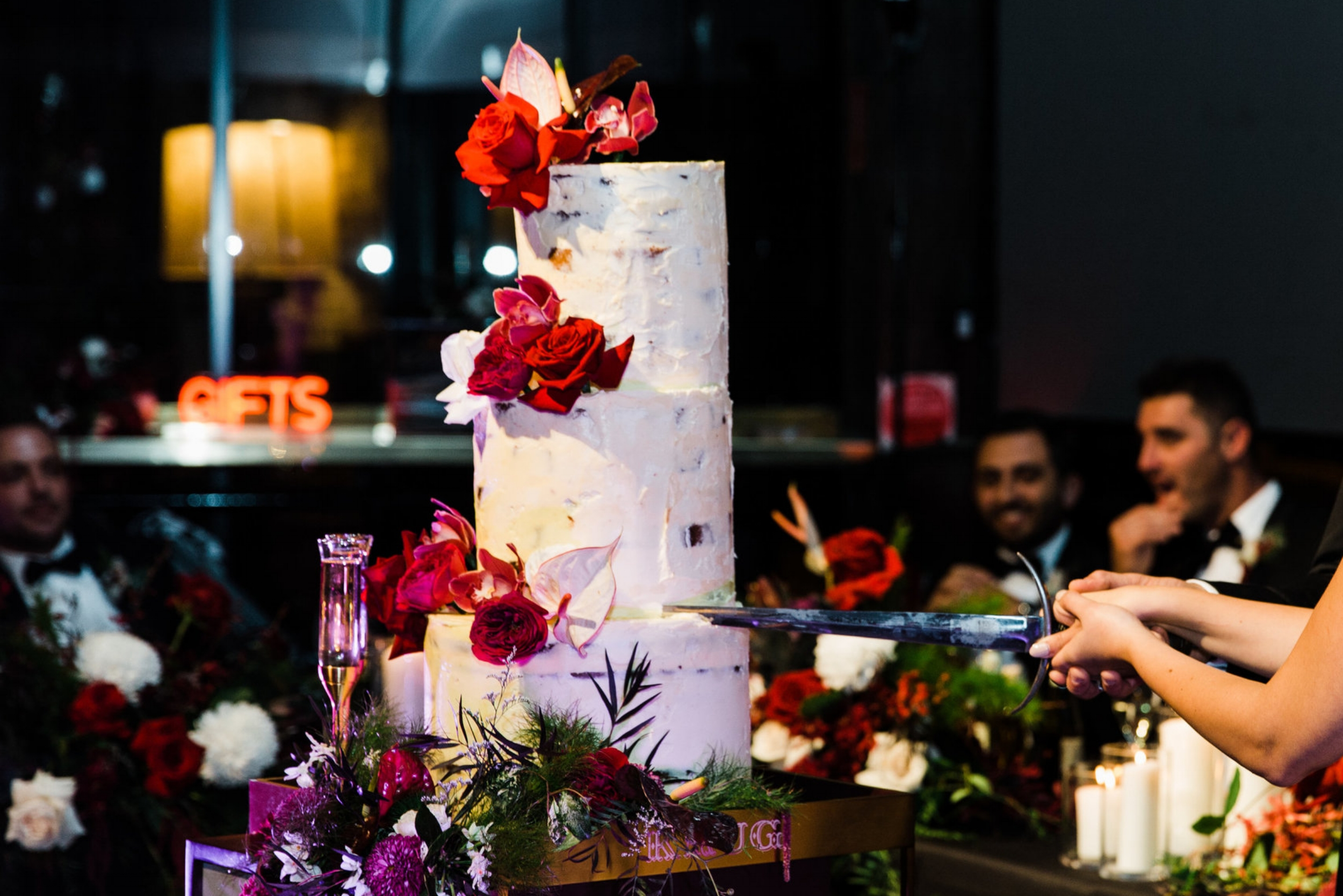 Cake decor - Your cake can be a showstopper on display prior to it being cut. We can decorate it with flowers and the table that it sits on, so it matches the rest of the wedding theme.