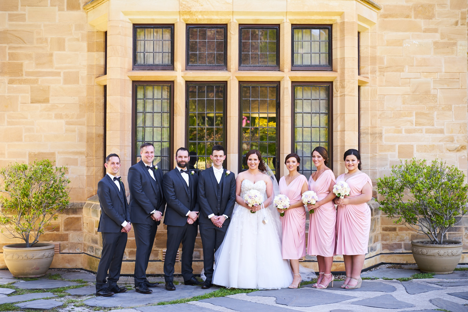 bridal party carrick hill adelaide