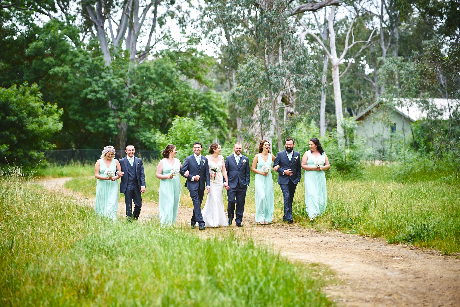 bridal party walking belair national park adelaide