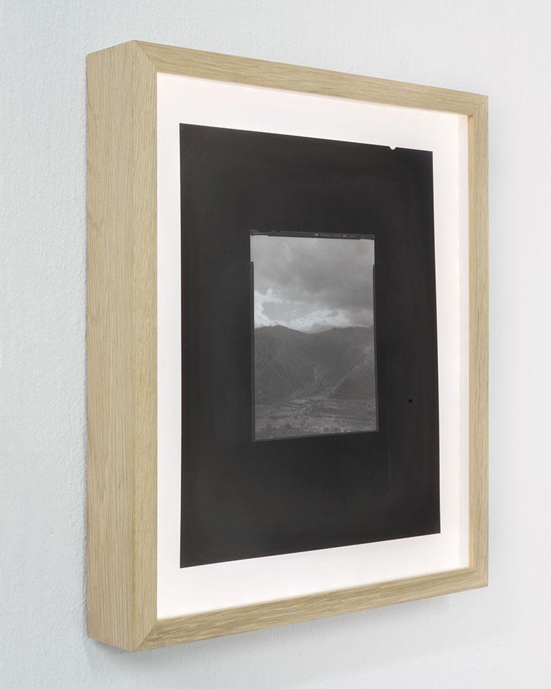 "Side view  Apparition V  4/8  Copy 8x10"" negative in backlit frame  20,5 x 25,5 cm  2018"