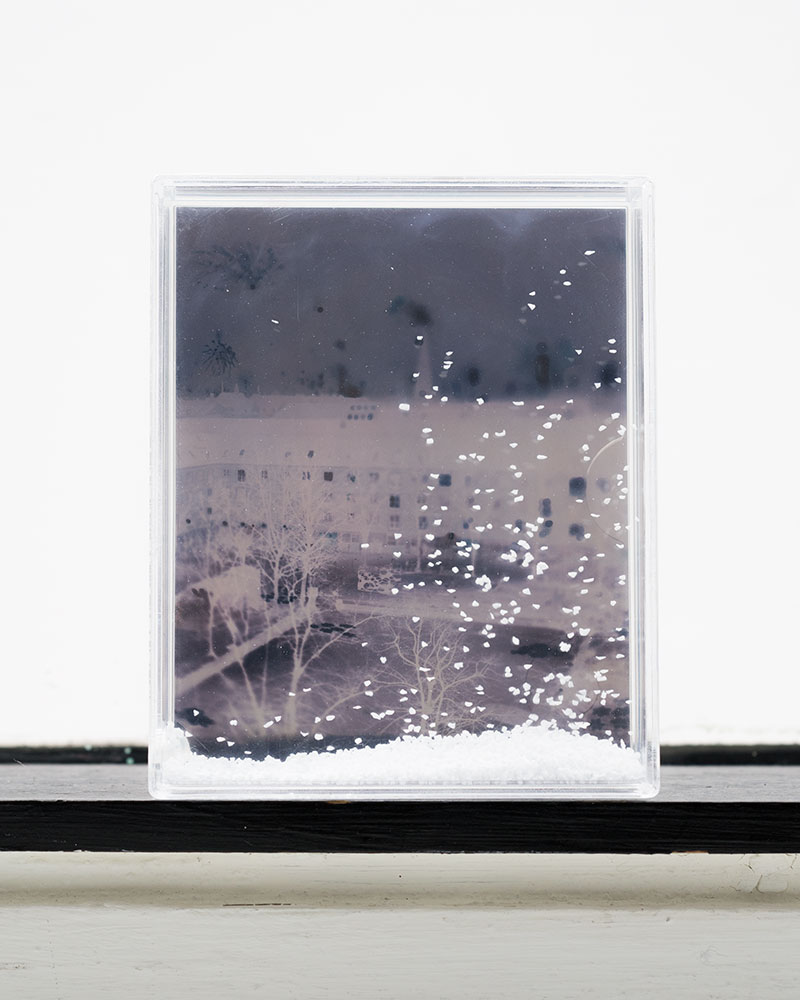 Apparition VI  2/8  Slide copy in snow display frame  9,5 x 11,5 x 2,5 cm  2018