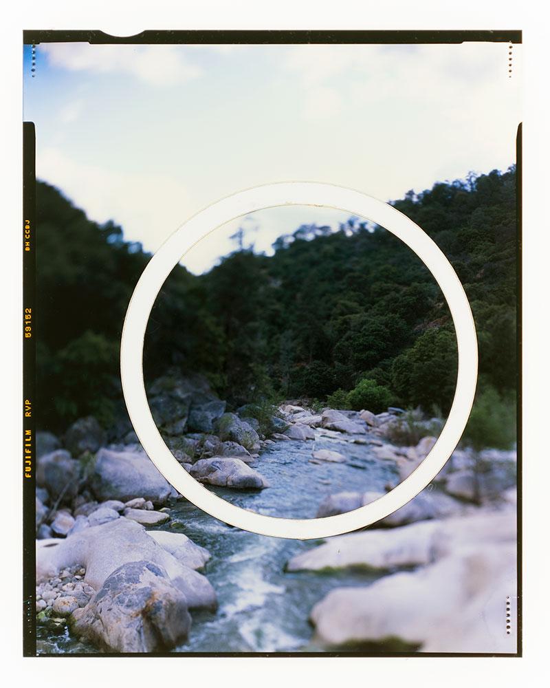 "Apparition I  AP  Original 4x5"" slide in backlit frame  Lasercut  10,1 x 12,7 cm  2006/2018"