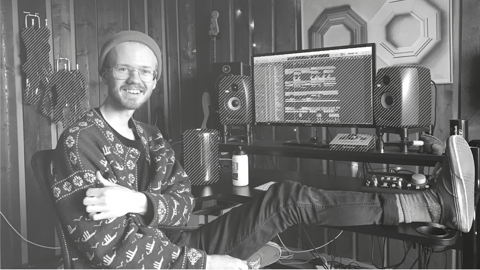 Alexander in his studio (songwriter and producer)