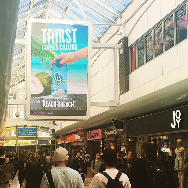 Our temperature triggered Vita Coco billboard in all its glory at Clapham Junction #vitacoco #reachforthebeach