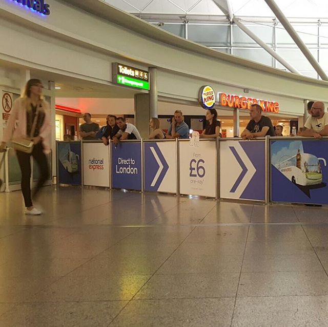 National Express branding looking fabulous at Stansted Airport