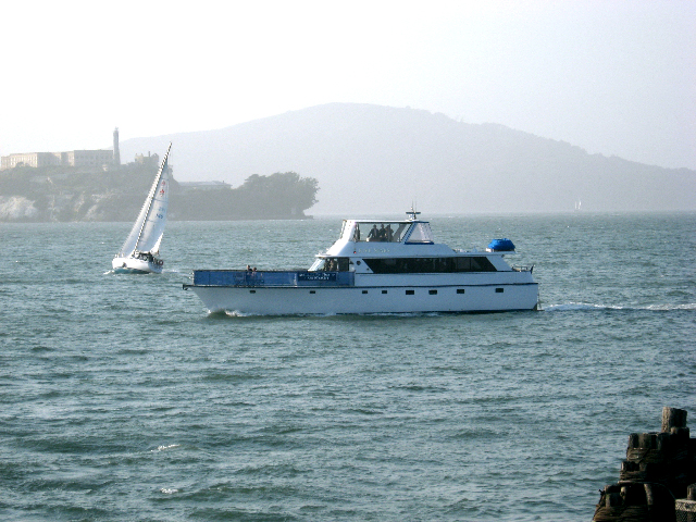 """5 STAR   Cruise the San Francisco Bay on this elegant yacht. It is available for """"private charter"""",and """"special event public cruises""""occur throughout the year.   Length:  75 feet  Number of Passengers:  50"""