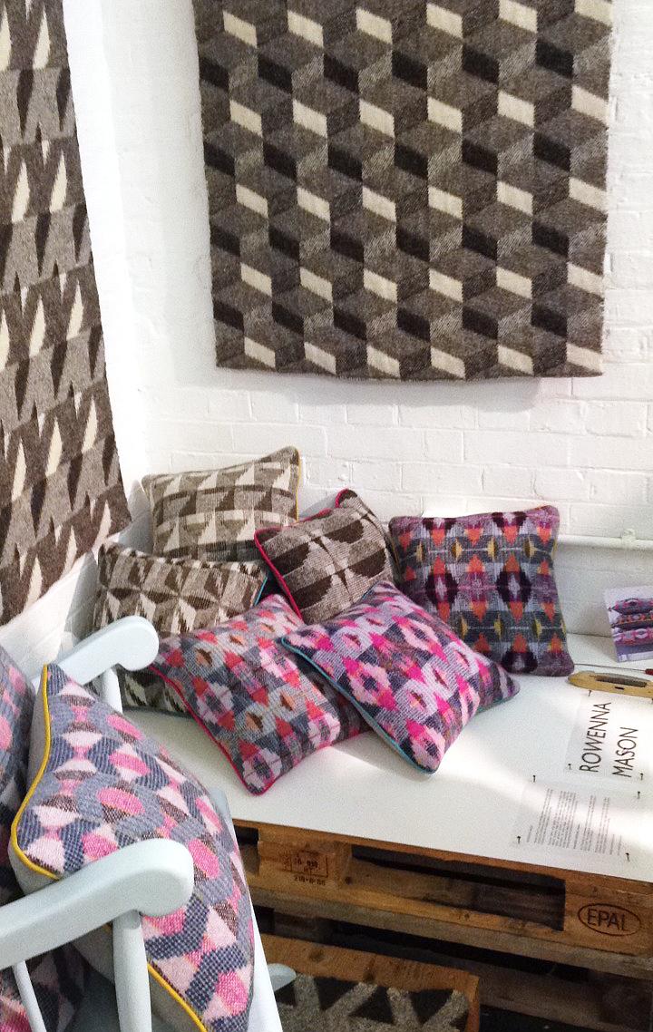 Rowenna's colourful cushions