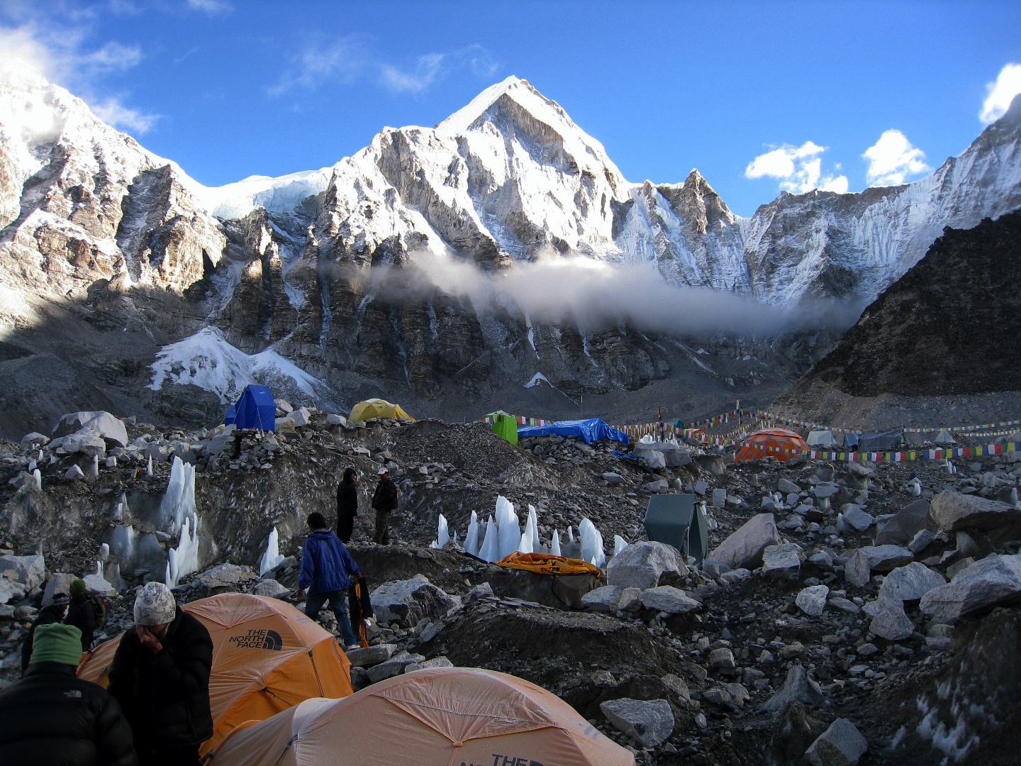 Tents at the end of the season after summit period