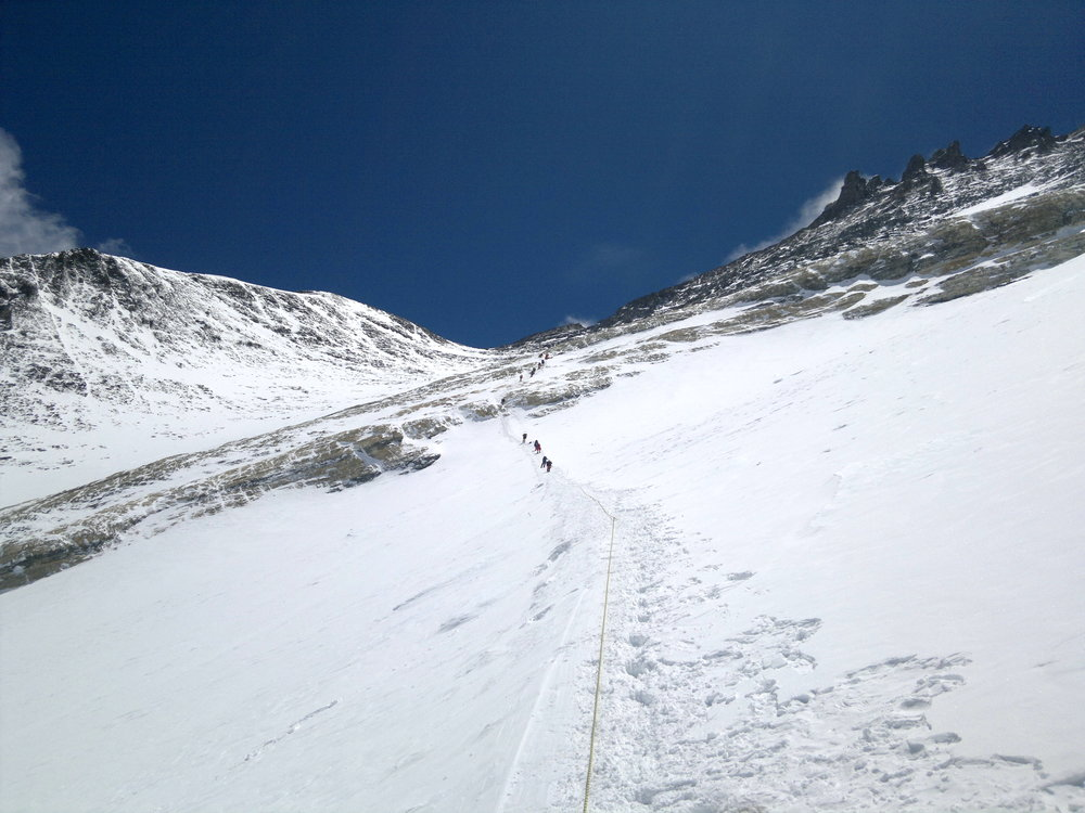On the way to the Mount Everest Summit