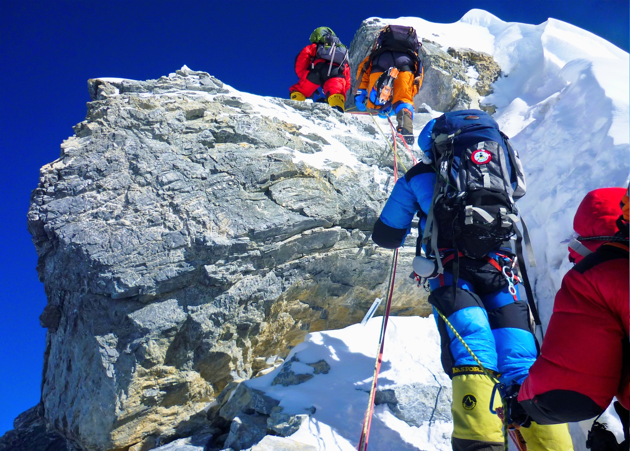Hillary Step from bottom