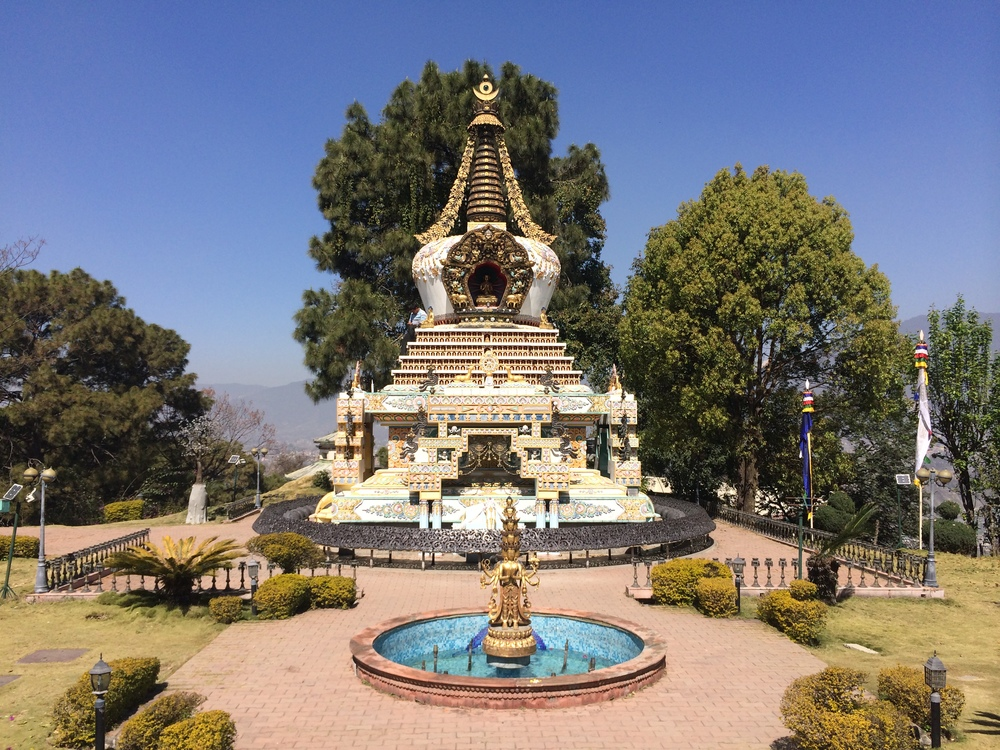 Stupah in the Monastery Garden