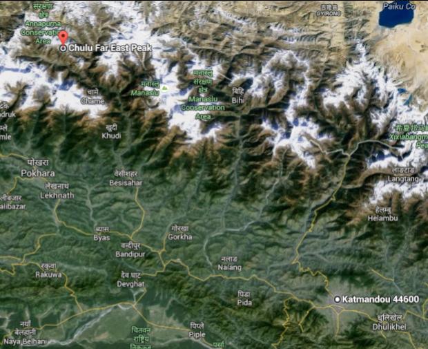 Chulu Far East Peak Map