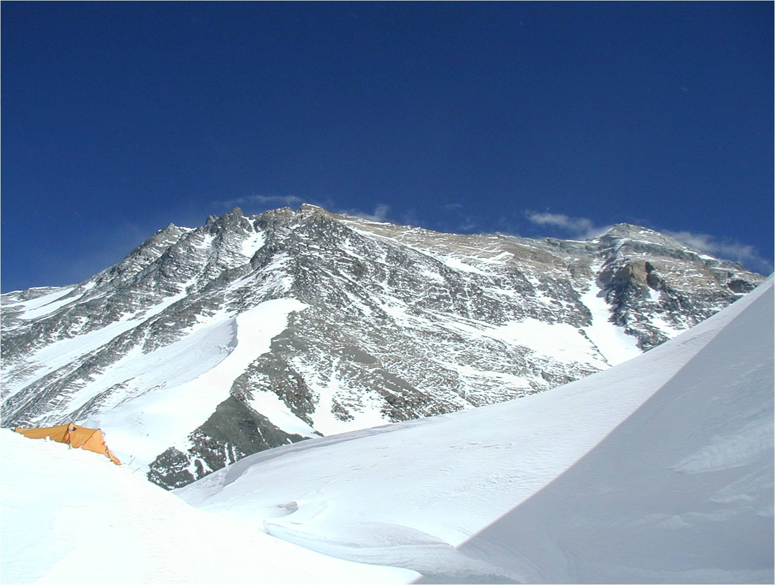View from Camp One up the North Face of Everest.jpg