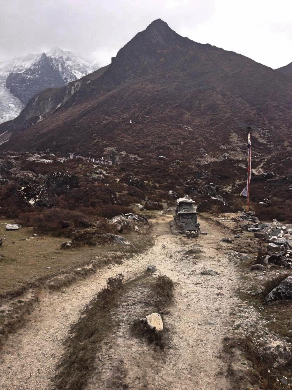 Cloudy day during Langtang Valley Trek