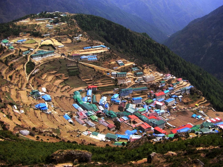 The Sherpa capital - Namche Bazaar