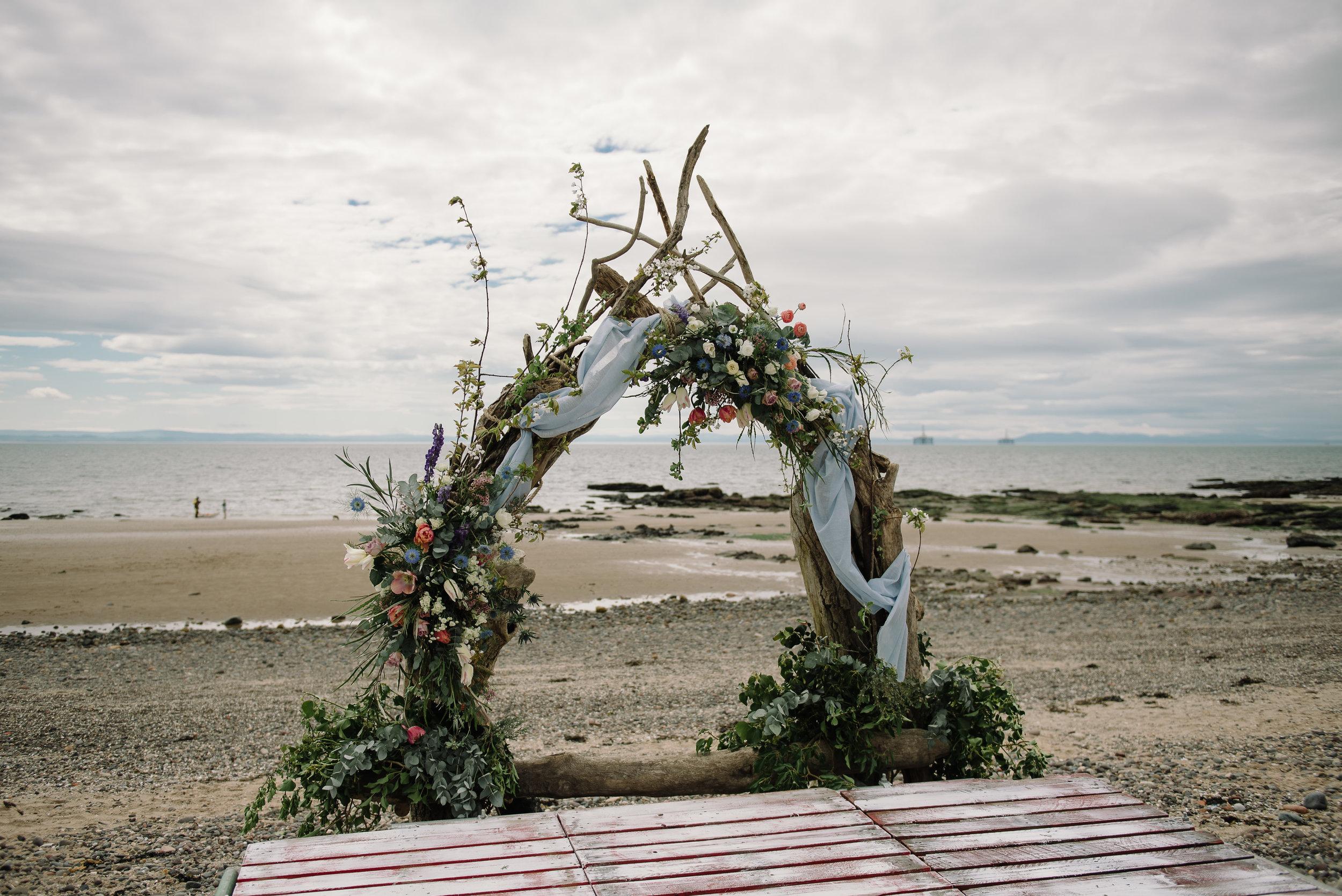 Photo by Rhiannon Neale Photography  Lower Largo Beach Arch
