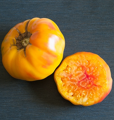 STRIPED GERMAN*    Large Bi-Color Striped Tomato