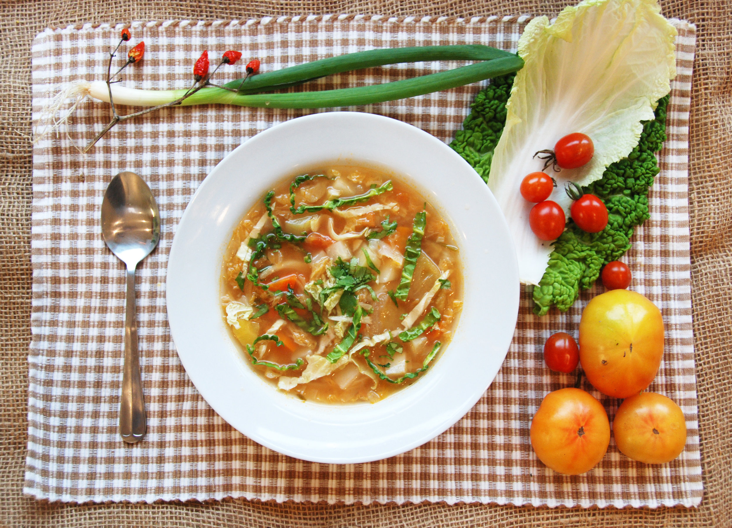 Spicy Asian Cabbage Soup