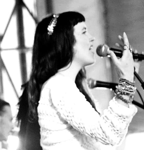 Singing at the Charlottesville Sprint Pavillion.