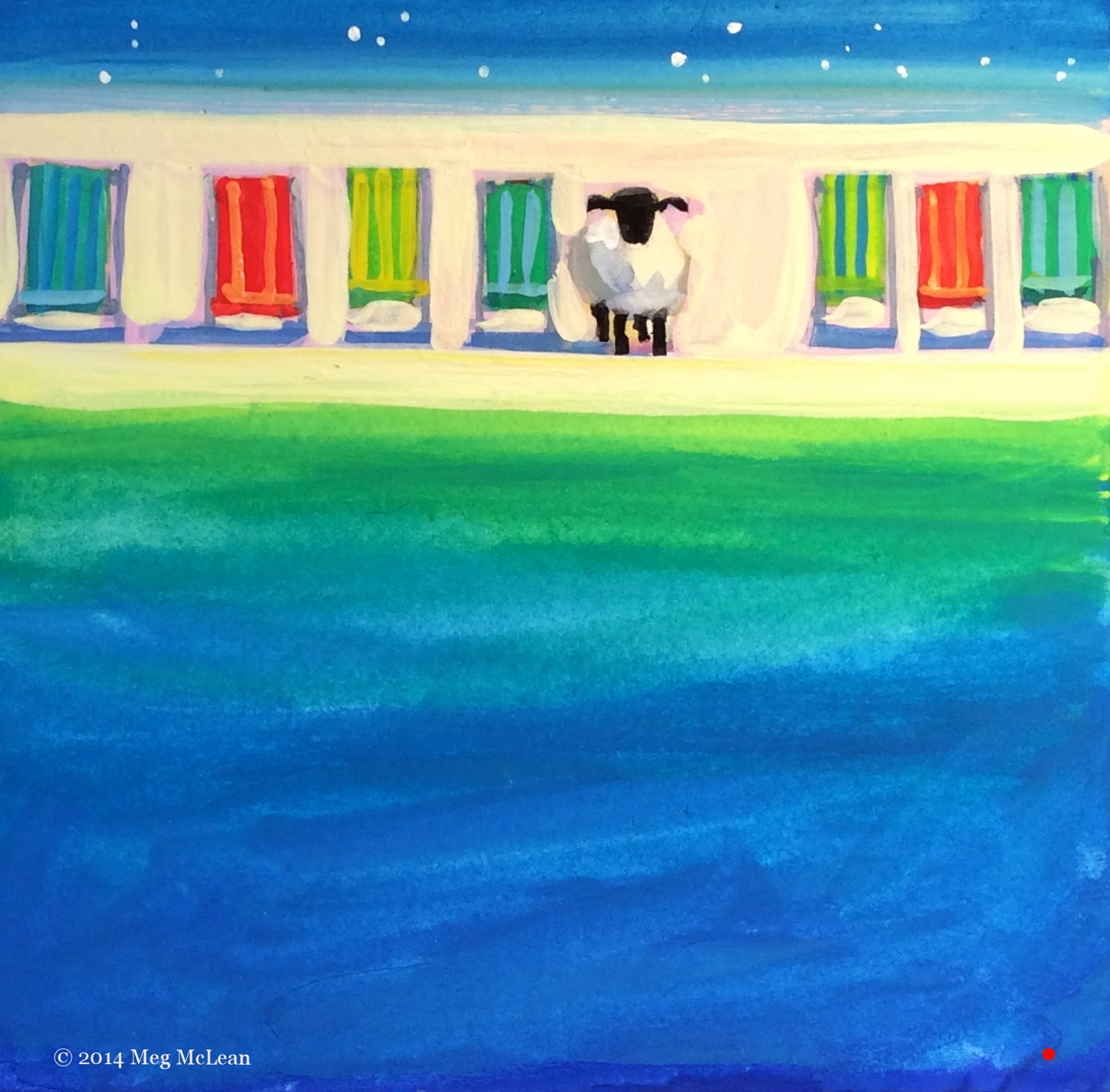 Meg McLean deck chair sheep
